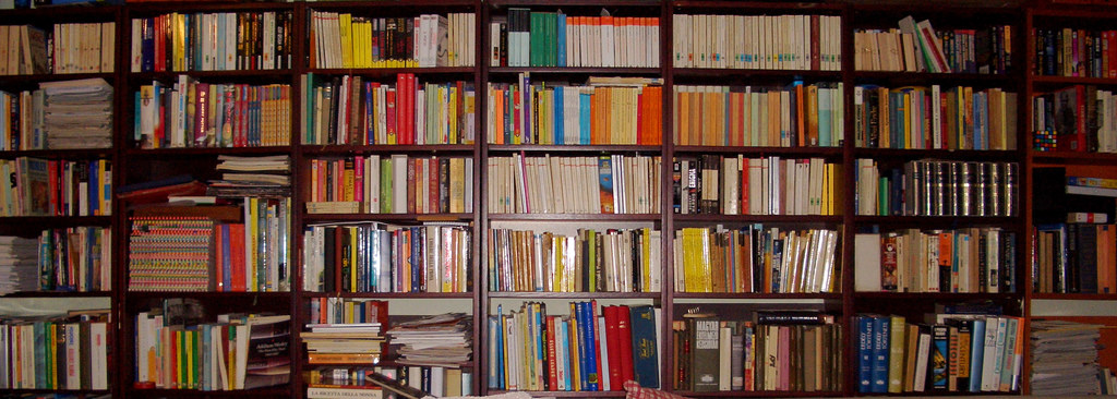 Bookshelf from Trinity College in Dublin.